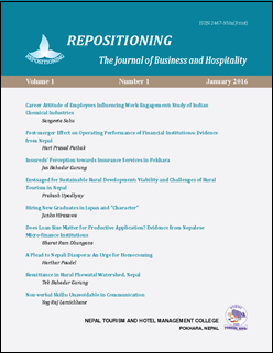 REPOSITIONING The Journal of Business and Hospitality