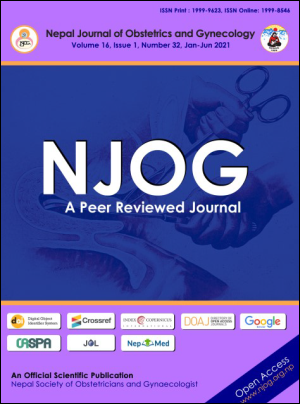 Cover of Nepal Journal of Obstetrics and Gynaecology