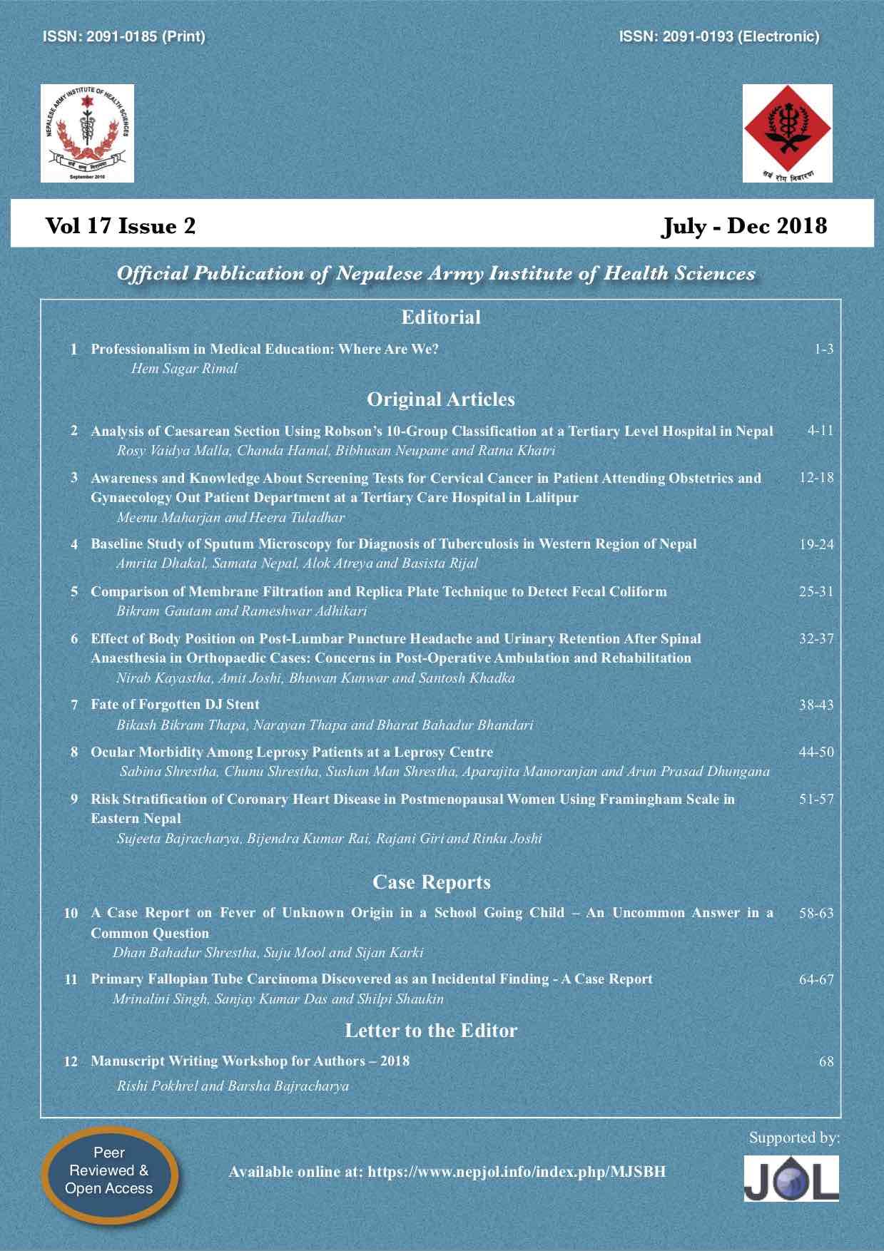 View Vol. 17 No. 2 (2018)
