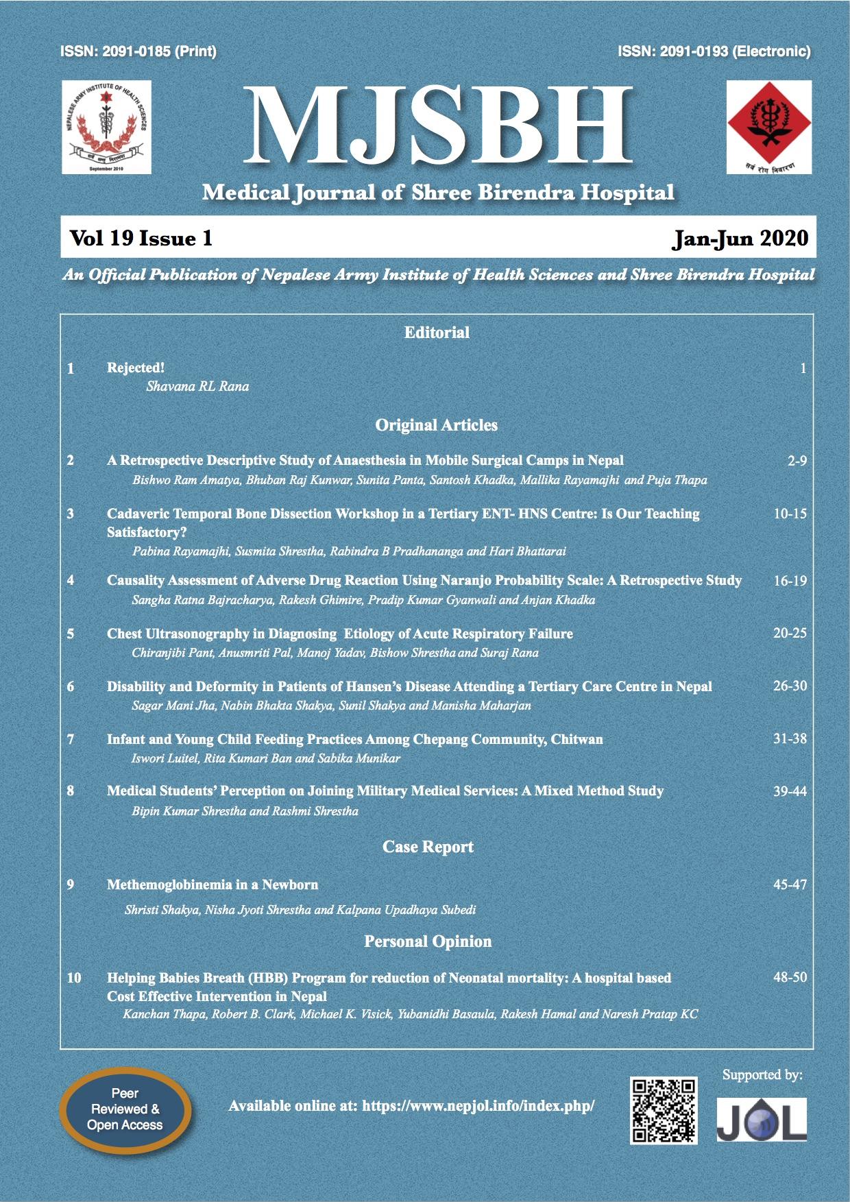View Vol. 19 No. 1 (2020)