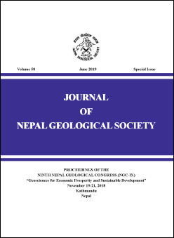 Cover of Journal of Nepal Geological Society